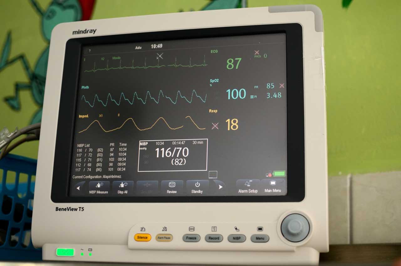 Betegmegfigyelés - betegőrző monitor