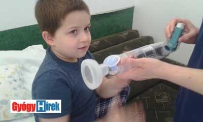 asztma- inhalálás előkészület