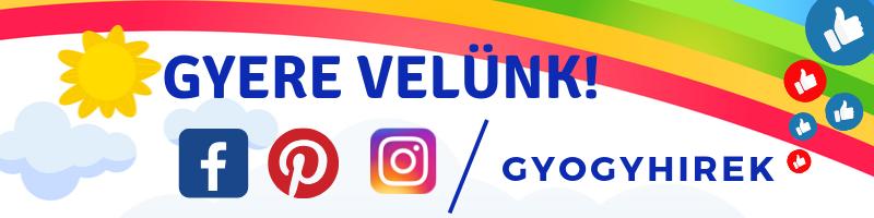 Gyere velünk a Facebookra, Pinterestre és az Instagramra is!