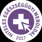Hiteles Egészségügyi Weboldal pecsét 2017