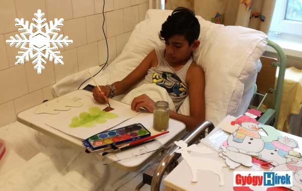 festés a kórházi ágyban
