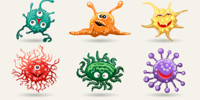 vírusok illusztráció